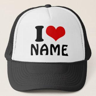 Customizable Valentines Day I love Heart Custom Trucker Hat