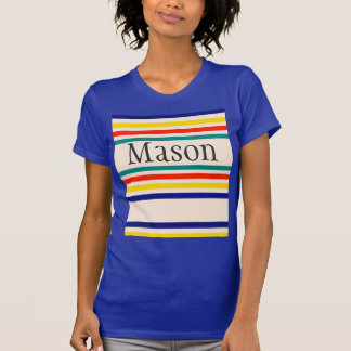 Customizable Vintage Bold Striped T-Shirt