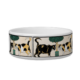 Customizable Vintage Cats by Edward Penfield Cat Food Bowls