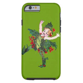 Customizable Vintage Christmas Pixie Tough iPhone 6 Case