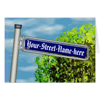Customizable vintage German street sign - Card