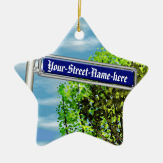 Customizable vintage German street sign - Christmas Ornament