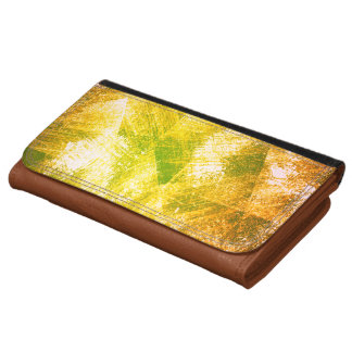 Customizable Vintage Gold Scratches abstract Wallet