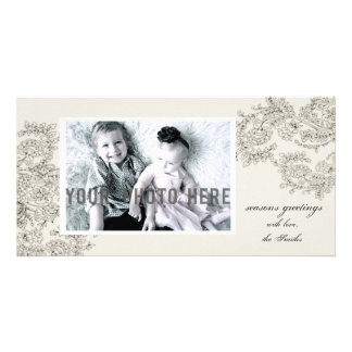 Customizable Vintage Inspired Christmas Card Personalized Photo Card