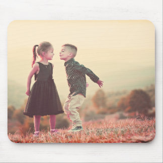 customizable vintage kissing kids under sun mouse pad