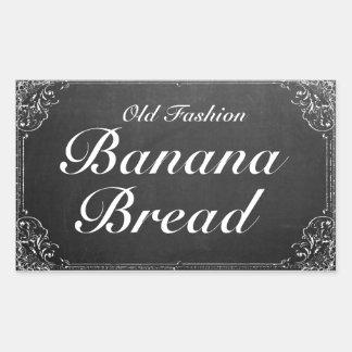 Customizable Vintage Ornate Frame Chalkboard label Rectangular Sticker