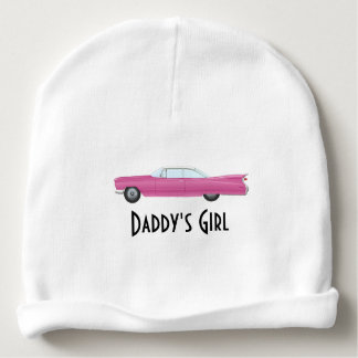 Customizable Vintage Pink Cadillac Baby Beanie