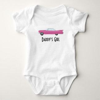 Customizable Vintage Pink Cadillac Baby Bodysuit