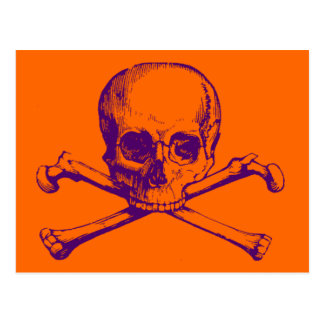 Customizable Vintage Skull & Crossbones Postcard
