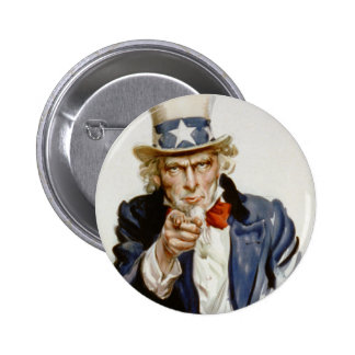 Customizable Vintage Uncle  Sam 6 Cm Round Badge