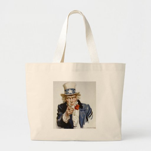 Customizable Vintage Uncle  Sam Bags