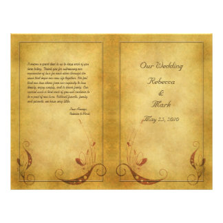 Customizable Vintage Wedding Program 21.5 Cm X 28 Cm Flyer