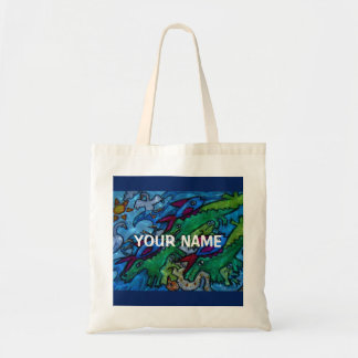 Customizable Water Jumble Tote Bag
