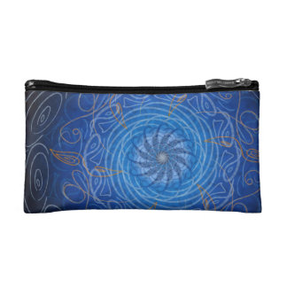 Customizable Water (Psychedelic spirograph) Cosmetic Bag
