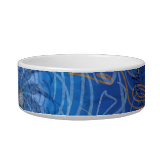 Customizable Water (Psychedelic spirograph) Pet Food Bowl