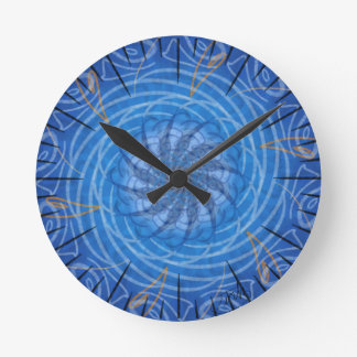 Customizable Water (Psychedelic spirograph) Round Clock