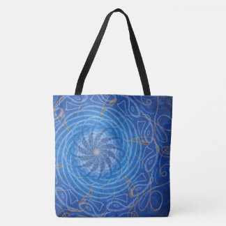 Customizable Water (Psychedelic spirograph) Tote Bag