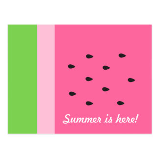 Customizable Watermelon Slice Summer Fun Postcard