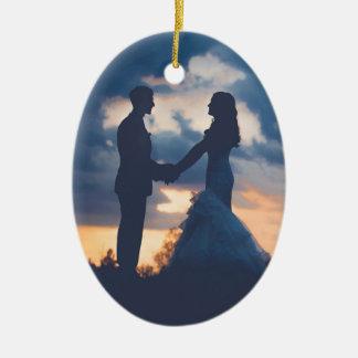Customizable Wedding Christmas Ornament