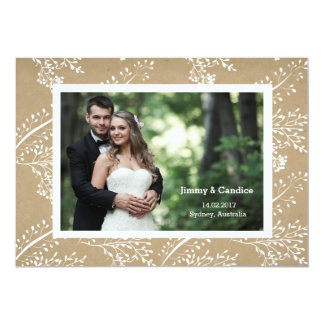 Customizable Wedding Invitation Card Vintage Paper