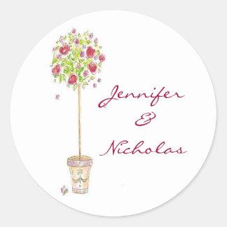 Customizable Wedding Invitation Seals Round Sticker