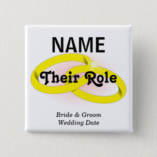 Customizable Wedding Party  Button