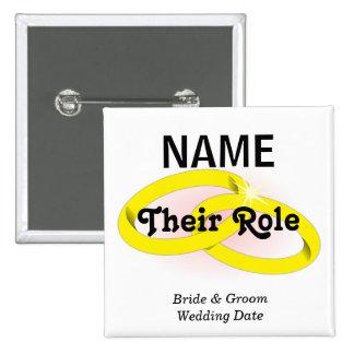 Customizable Wedding Party  Button
