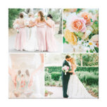 Customizable Wedding Photo Collage Stretched Canvas Print