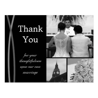 Customizable Wedding Thank You Card Photo Pictures Postcard