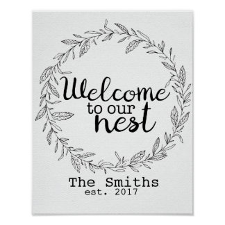 Customizable Welcome to Our Nest print