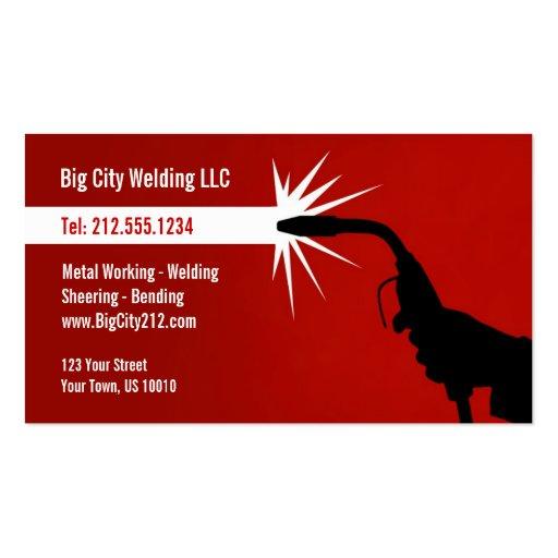 Customizable welding business card zazzle for Welding business card ideas