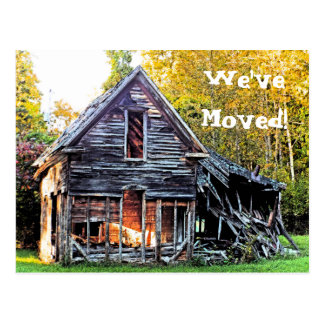 """CUSTOMIZABLE """"WE'VE MOVED""""/PHOTO/HOUSE IN RUINS POSTCARD"""
