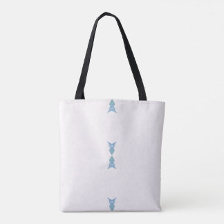 Customizable White Blue Arrows Simplicity Pattern Tote Bag
