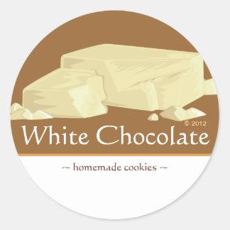 Customizable White Chocolate Stickers