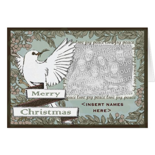 CUSTOMIZABLE White Dove Christmas ... - Customised Card