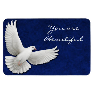 Customizable White Dove Premium Flexi Magnet