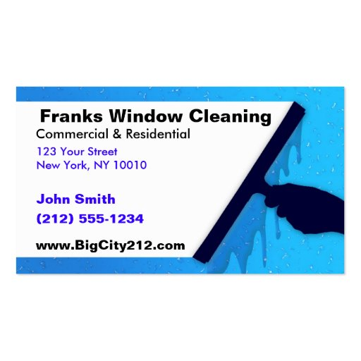 CUSTOMIZABLE Window Cleaning BC Business Card Template