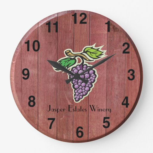 Customizable Wine Barrel Clock