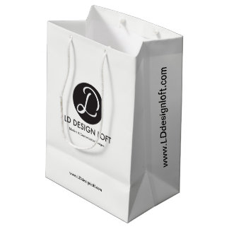 Customizable with Business Company Logo, Promotion Medium Gift Bag
