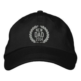 Customizable YEAR for New Dad Laurels Embroidery Embroidered Baseball Caps
