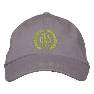 Customizable YEAR for New Dad Laurels Embroidery Embroidered Cap