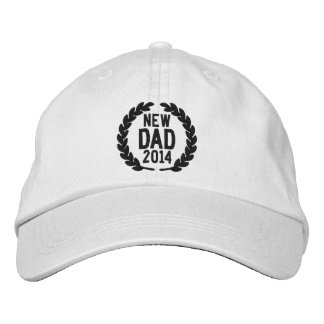 Customizable YEAR for New Dad Laurels Embroidery Embroidered Hat