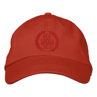 Customizable YEAR for New Mom Laurels Embroidery Baseball Cap