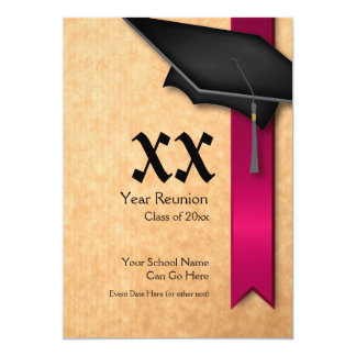 Customizable Year Maroon Class Reunion Invitation