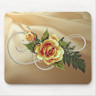 CUSTOMIZABLE Yellow Roses Mouse Pad
