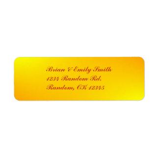 Customizable yellow splash professional labels