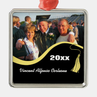 Customizable Yellow Tassel Graduation Ornament