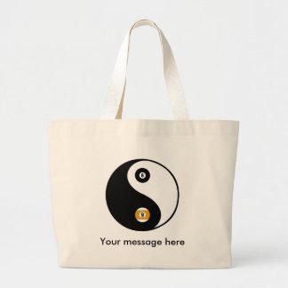 Customizable YinYang pool tote Jumbo Tote Bag