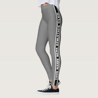 Customizable Your Club Name Striped Leggings