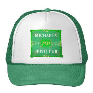 Customizable Your Name Irish Pub Green Cap
